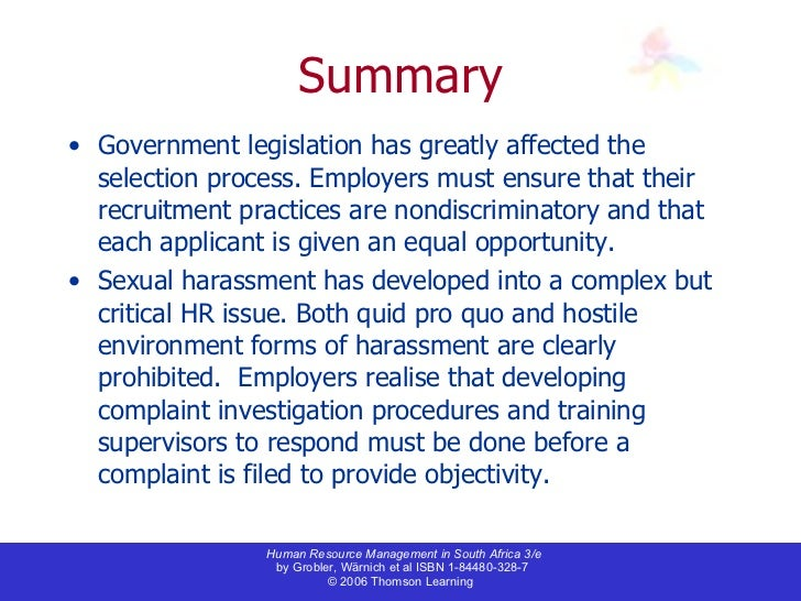 human resource sexual haressment policy