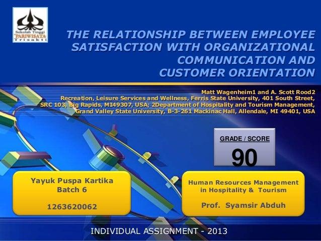 Employee Relation - Journal Summary