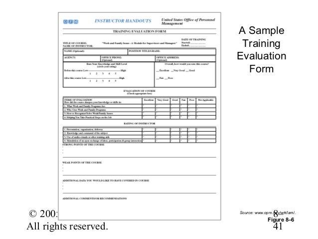 Cute Sample Training Evaluation Form Contemporary  Resume Ideas