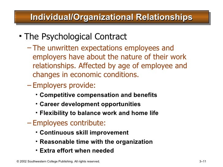 hrm psychological contract How can the answer be improved.