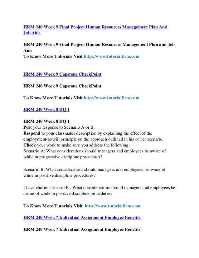 human resource management 240 final project The administrative arm of the state of florida government.