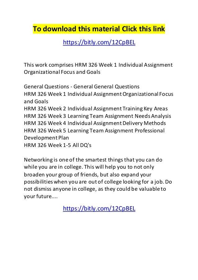 individual assignment organizational focus and goals essay