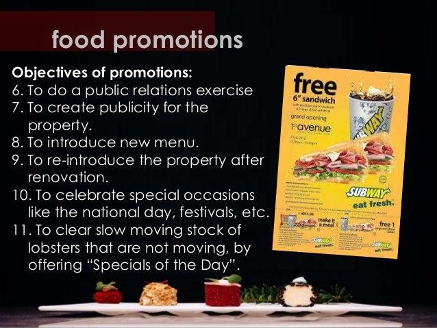 Food Promotion Ideas