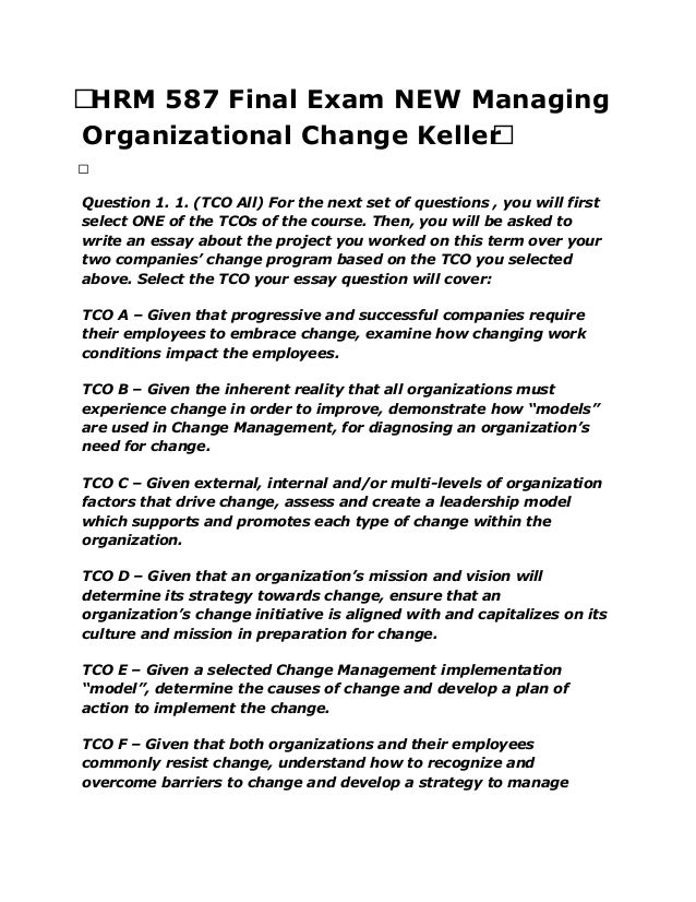 hrm 587 19278 managing organizational change week 4 disc References cheung-judge, m & holbeche, l (2011, may 15) organization  development: a practitioner's guide for od and hr  london: kogan page.
