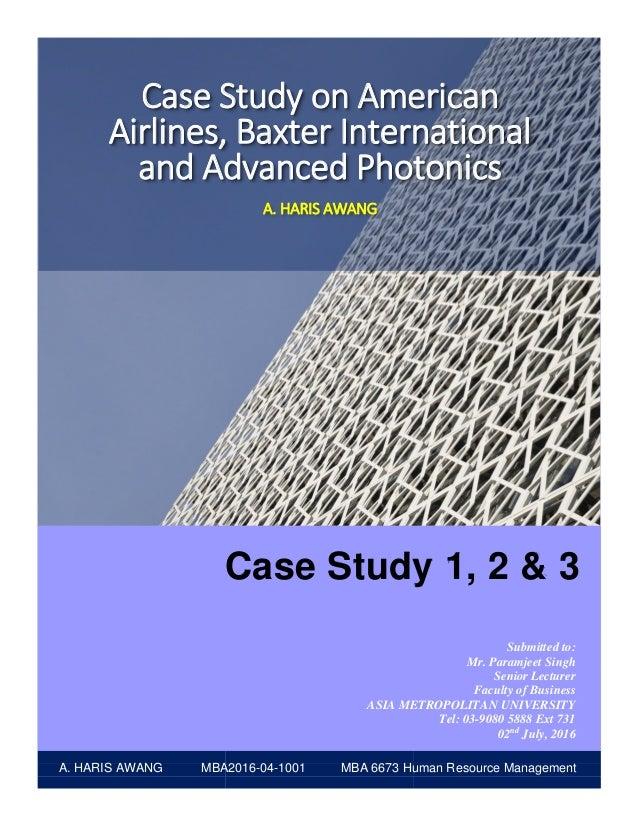 baxter international case study