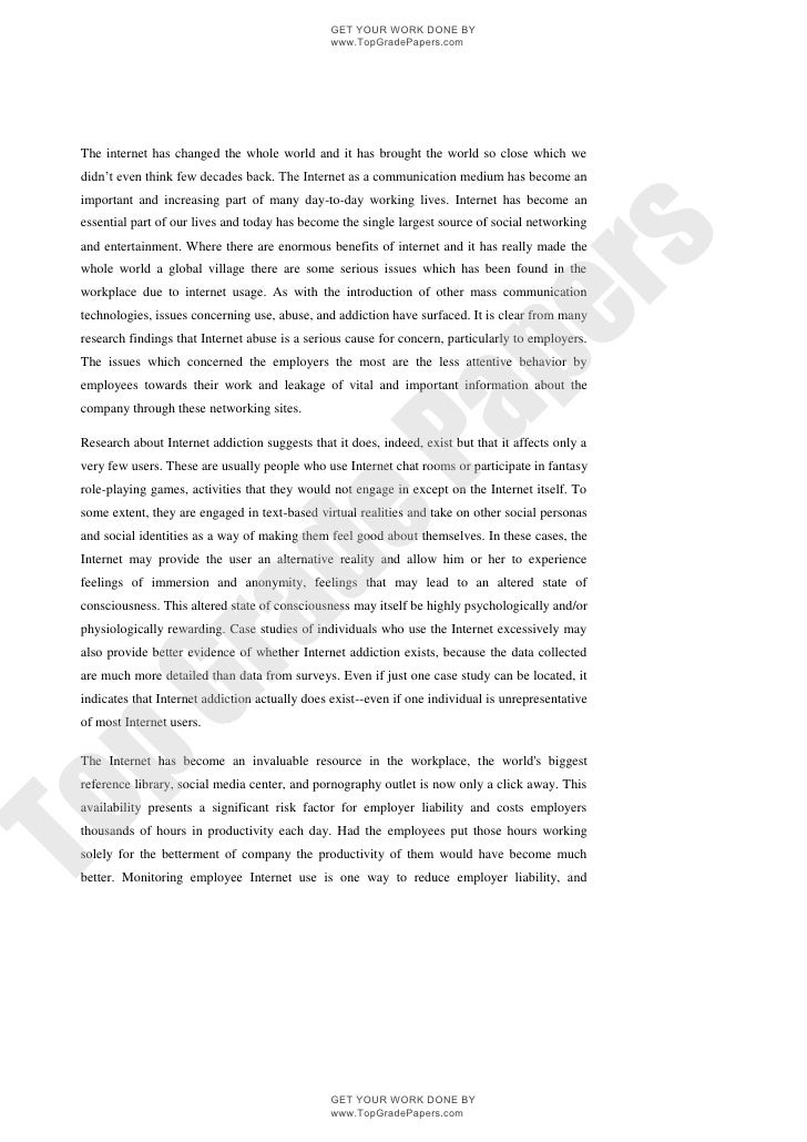 essay on the use and abuse of the internet