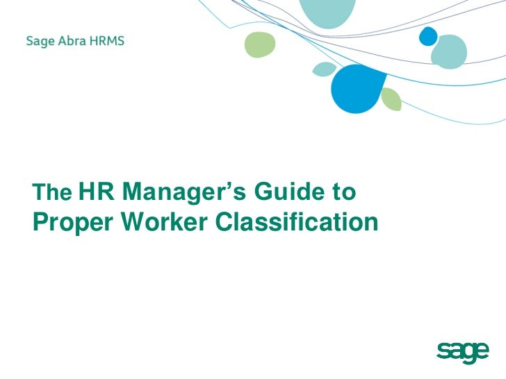 HR Managers Guide to Proper Worker Classification