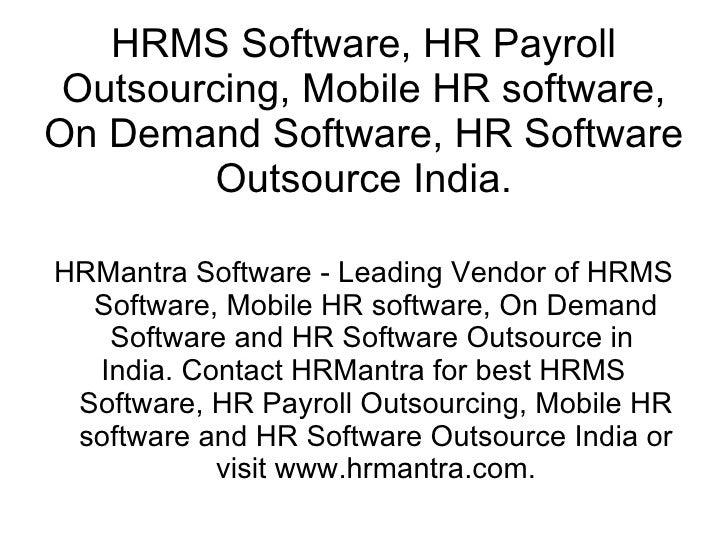 Hr Mantra Software
