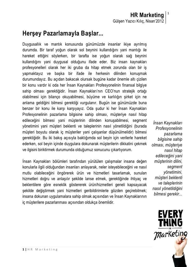 HR Marketing            1                                                          Gülşen Yazıcı Kılıç, Nisan'2012Herşey P...