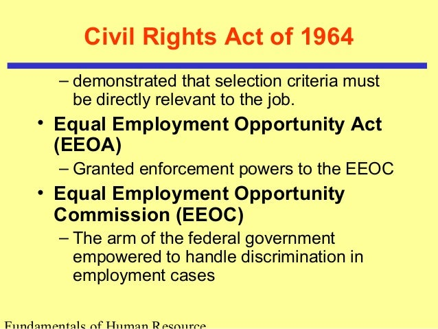 an introduction to the equal employment opportunity comission All others should contact the us equal employment opportunity commission (eeoc) for guidance on how to pursue an eeo claim equal pay act of 1963.