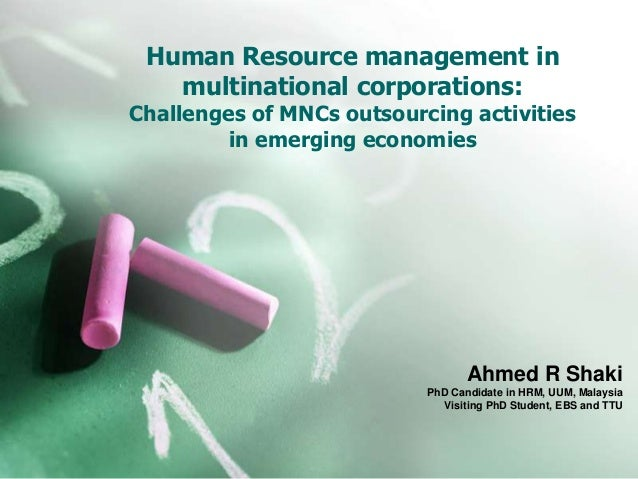 Challenges in HRM in MNCs