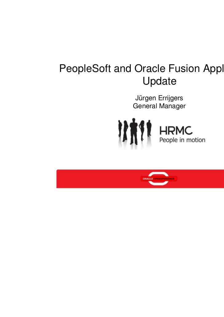 PeopleSoft and Oracle Fusion Applications Update