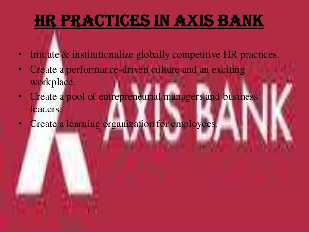 performance management practices in axis bank