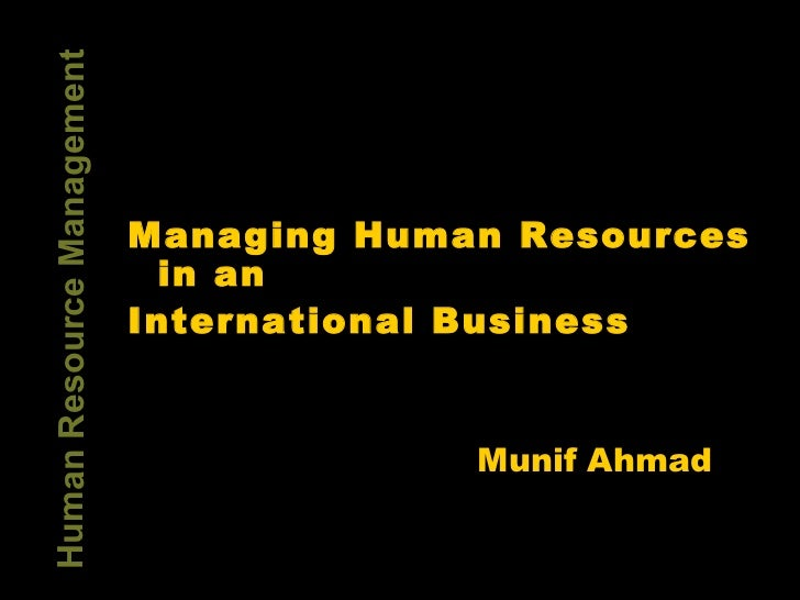 Hrm in International business