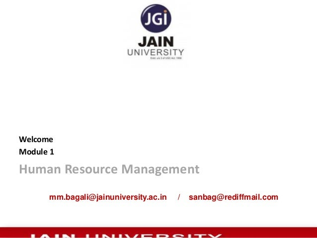 MM Bagali, HR, MBA, HRM, HRD, Research     HR module 1
