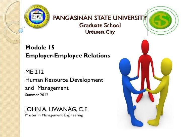 PANGASINAN STATE UNIVERSITY                      Graduate School                                   Urdaneta CityModule 15E...