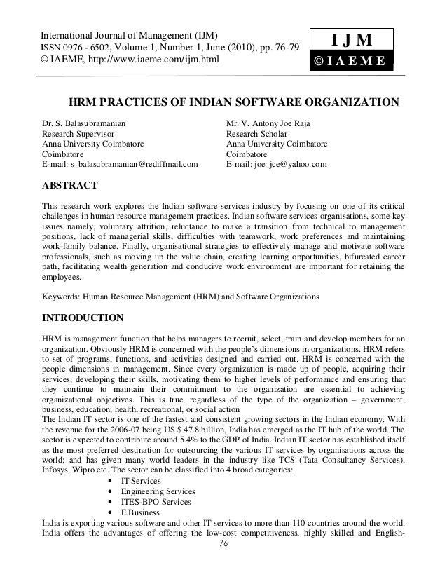 International Journal of Management0976 - 6502, Volume 1, Number 1, June (2010), © IAEME International Journal of Manageme...