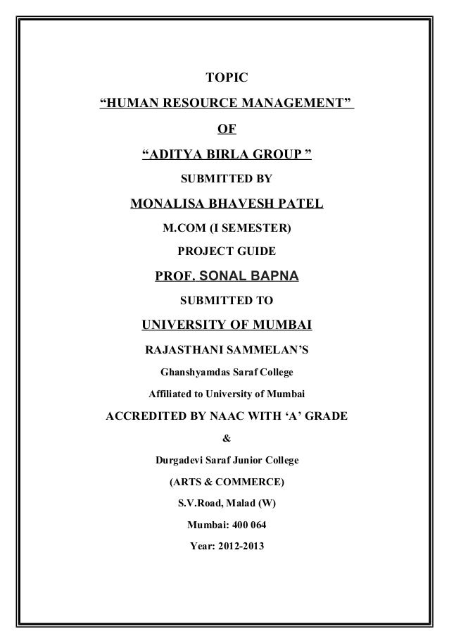 hrm project Human resource management day to day you have just been hired to work in the human resource department of a small company you heard about the job through a conference you attended, put on by the society for human resource management (shrm) previously, the owner of the company, jennifer, had been doing everything related to human resource management (hrm.