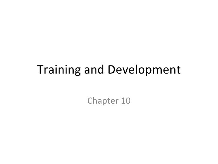 Training and Development Chapter 10