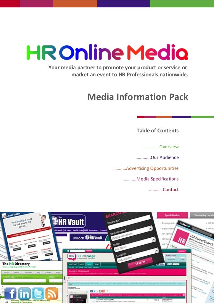 Your media partner to promote your product or service or        market an event to HR Professionals nationwide.           ...