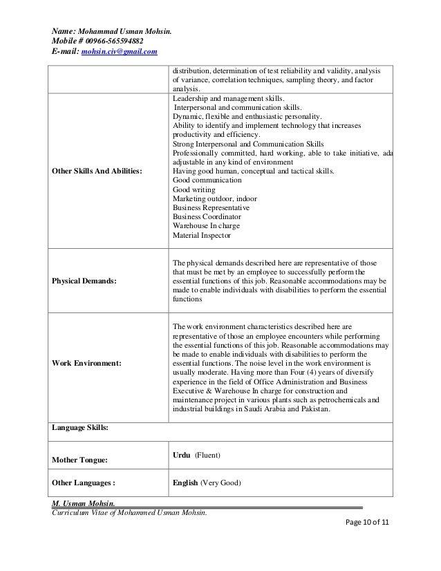 Sample resume hr admin manager
