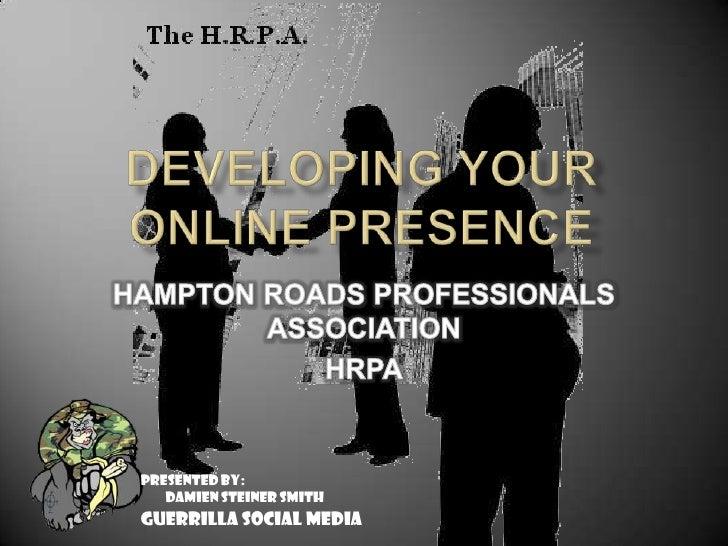 Hrpa Online Presence Presentation