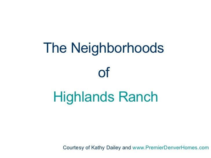 Highlands Ranch Neighborhoods