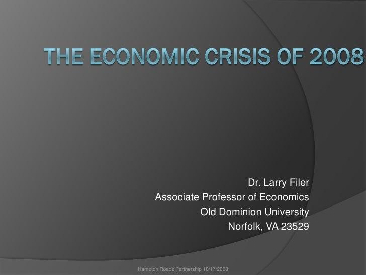 Economic Crisis of 2008