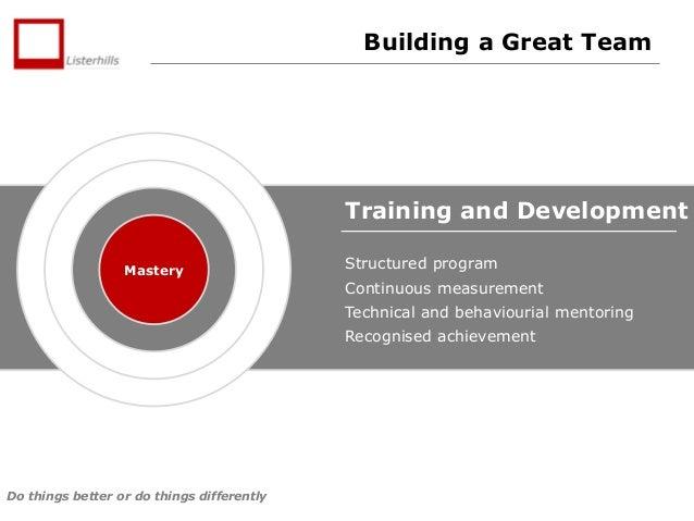 Training and development business plan