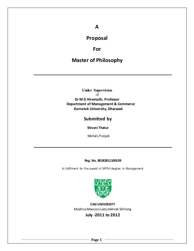 Master thesis proposal computer science uncategorized