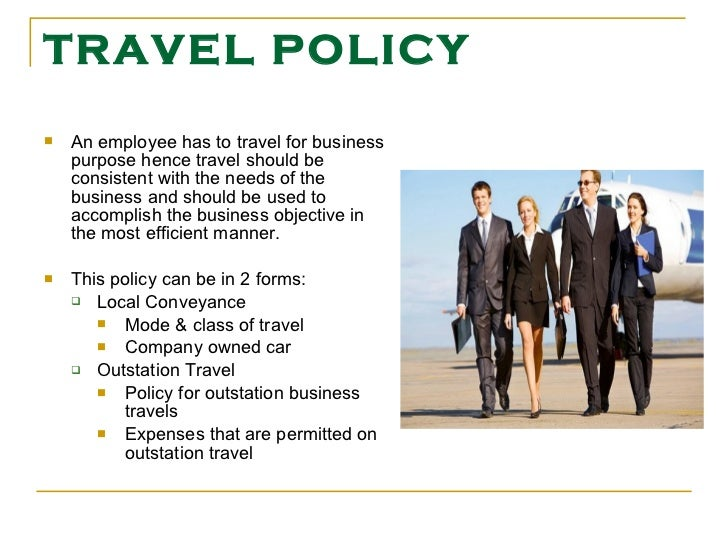 Hr policies for Company travel policy template