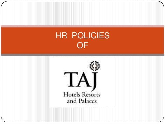 HR Policies of Taj Hotels