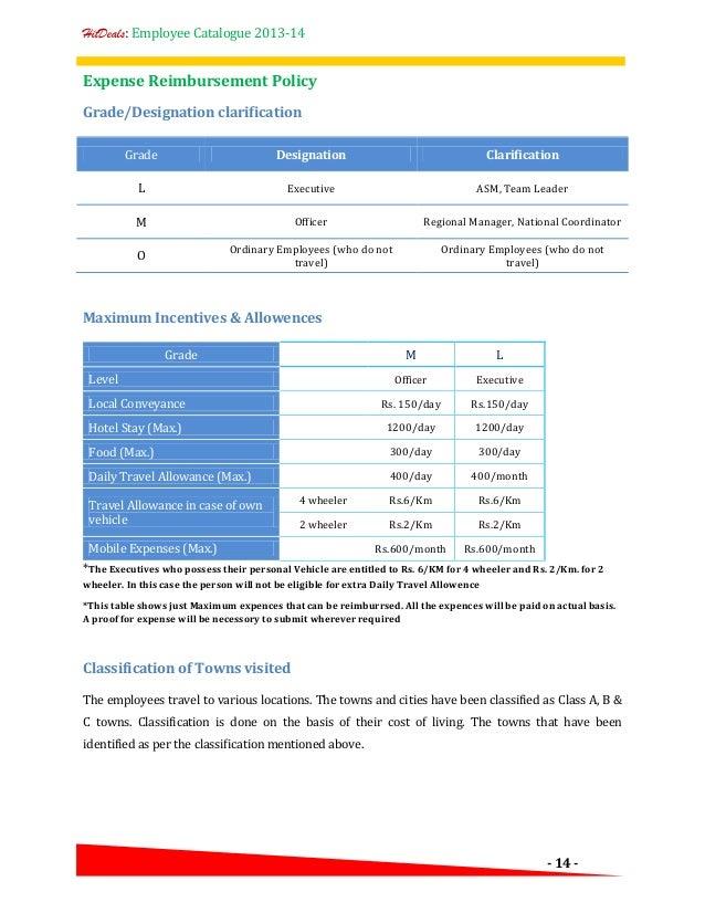 Company Car Policy Sample