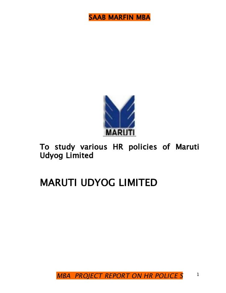 Hr policy in maruthi