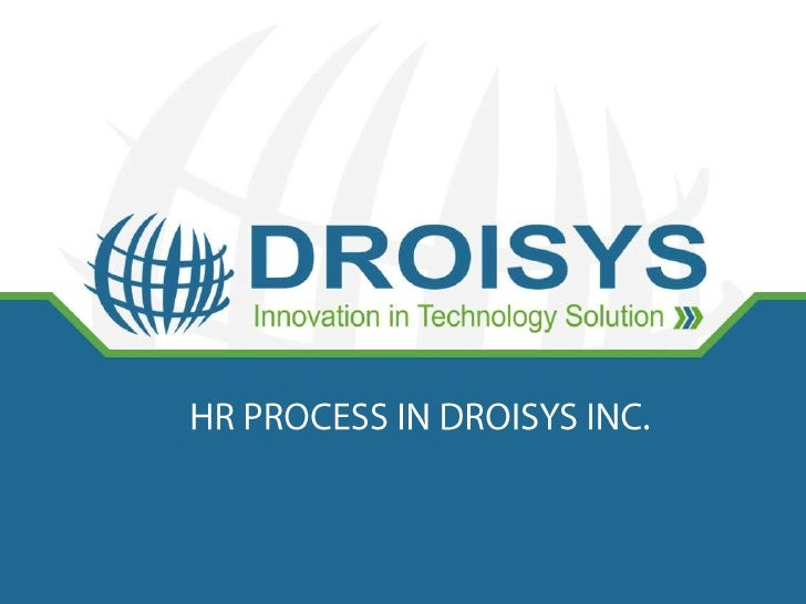 Resource Profile of DroisysTotal No. of Employees : 62Resource Profile - Department Wise S.No                     Departme...