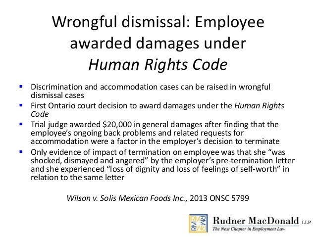 Ontario human rights code case studies
