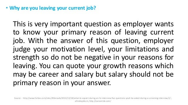 best reasons for leaving a job