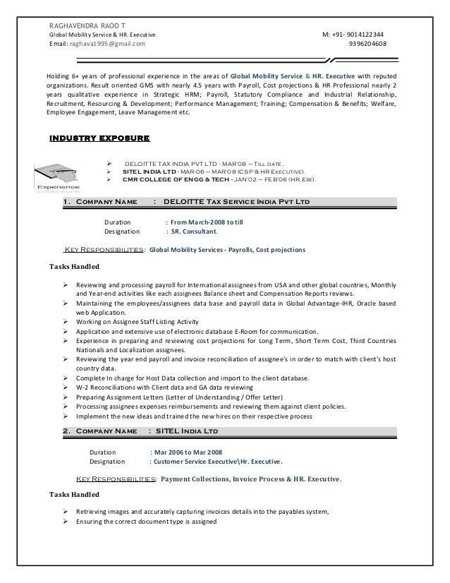 Deloitte audit internship resume