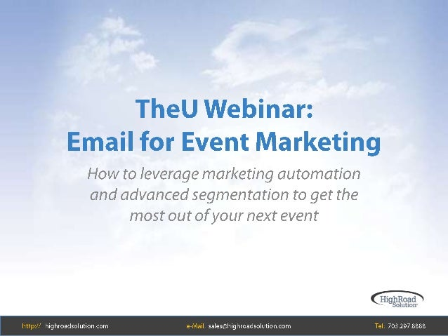 Email Marketing to Increase Event Attendance