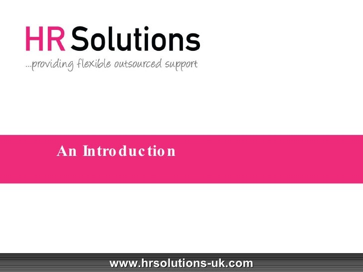 HR Solutions - An Introduction