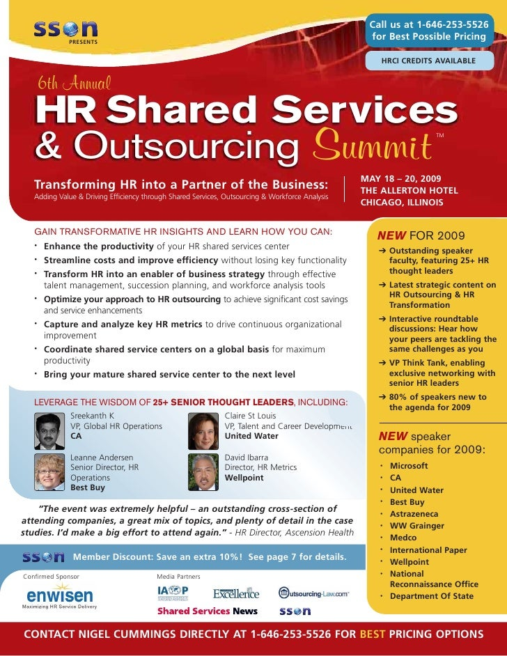 6th Annual HR Shared Services & Outsourcing Summit