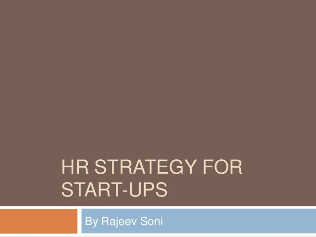 HR strategy for start ups