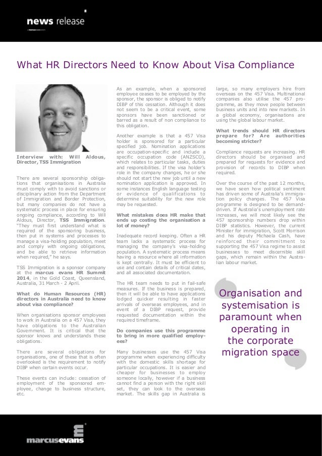 What HR Directors Need to Know About Visa Compliance As an example, when a sponsored employee ceases to be employed by the...