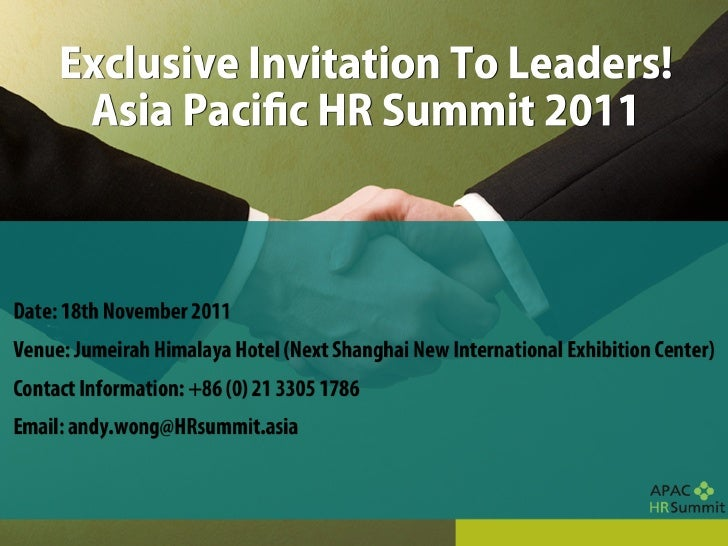 Asia Pacific HR Leaders' Summit