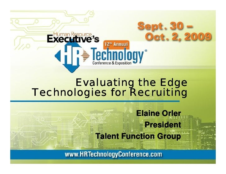 HR Tech Conference: Edge Technologies for Recruiting
