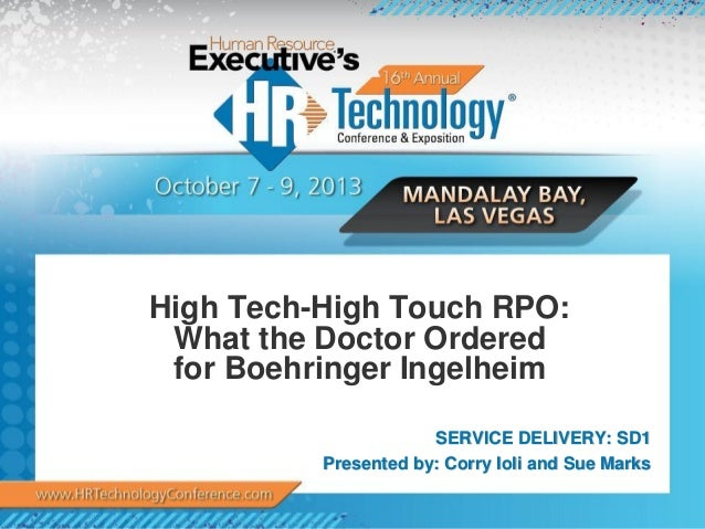 High Tech-High Touch RPO: What the Doctor Ordered for Boehringer Ingelheim