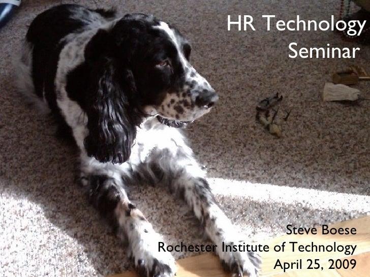 HR Technology Seminar - April 25, 2009
