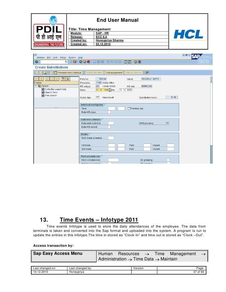 sap hr time management user guide www sapdocs info HR Organizational Structure Models SAP HR Department
