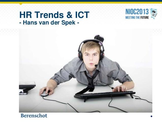 Bijdrage op NIOC 2013 HR trends & ICT
