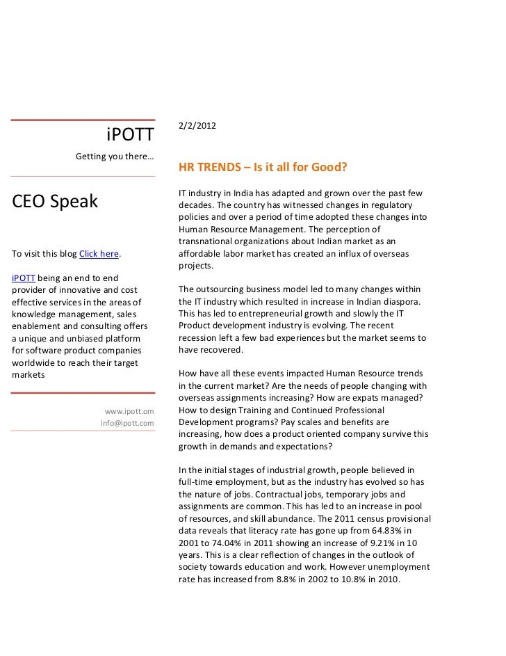 2/2/2012                          iPOTT                 Getting you there…                                         HR TREN...